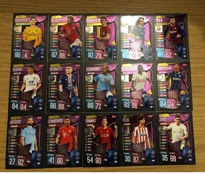 Match Attax 2019/20 Full Set Of All 15 Super Squad All Listed Ss1-Ss15 Mint