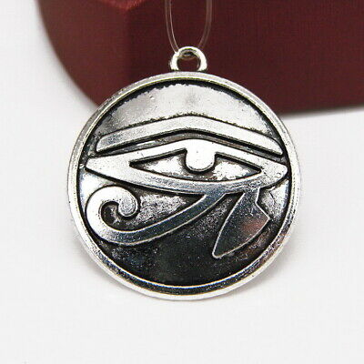 5/50pcs 28x25mm Antique Silver Eye of Horus Tibetan Charms Pendants Jewelry