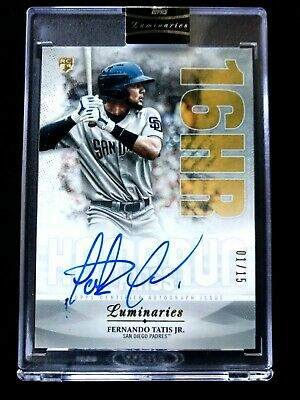 2019 Topps Luminaries Baseball Fernando Tatis Jr RC Auto 1/15