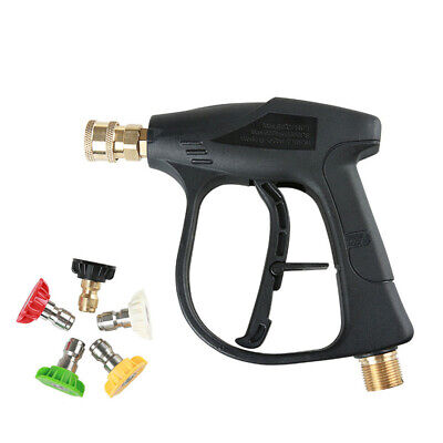 High Pressure Power Washer Gun Water Spray Wand 4000PSI + Nozzles tips Car Clean