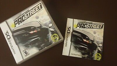 need for speed pro street (Nintendo DS) Case & Papers Only