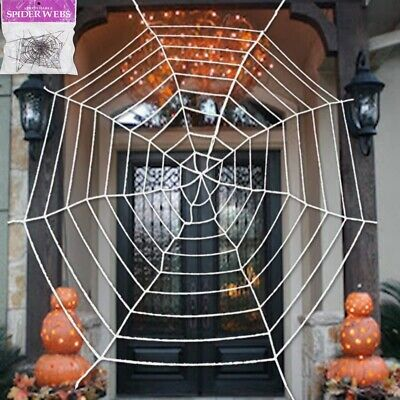 Large Spider Web Indoor Outdoor Spooky Haunted House Halloween Party Decoration