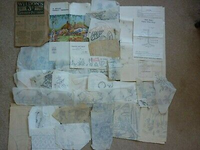 Joblot Of Vintage Embroidery Iron On Transfers