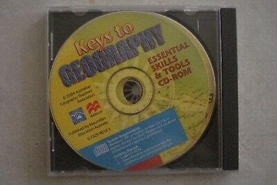 + Keys To Geography (Pc Cd- Rom) Good Condition (Aussie Seller)