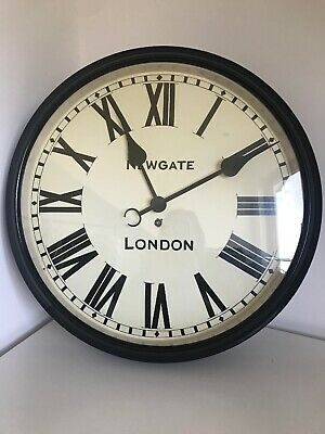 Newgate Wall Clock The Battersby Black Roman Numeral Classic Station Clock 50 CM