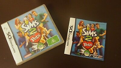 the sims 2 pets (Nintendo DS) Case & Papers Only