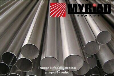 Stainless Tube Pipe 304 All Diameters & Lengths Repair Exhaust Tubing Section