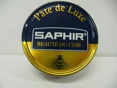Saphir Shoe Polish Wax Pate De Luxe 50ml Made in France ALL COLORS