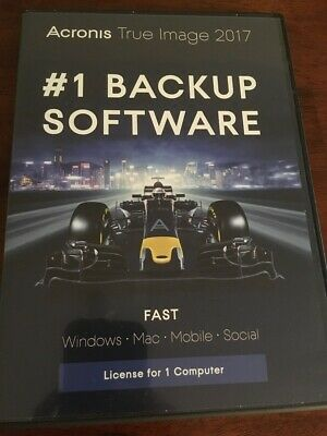Acronis True Image 2017 for 1 Computer/Device Windows Mac NEW FREE SHIPPING