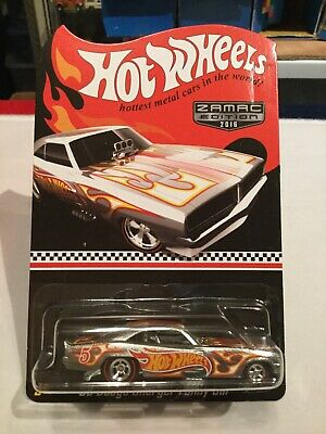 Hot Wheels Walmart Exclusive 2016 - Mail In ZAMAC '69 Dodge Charger Funny Car