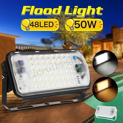 4Pcs 50W LED Flood Light Outdoor Garden Landscape Path Spot Floodlight