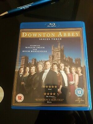 Downton Abbey: Series 3 Blu-ray (2012) Maggie Smith cert 12 3 discs Great Value