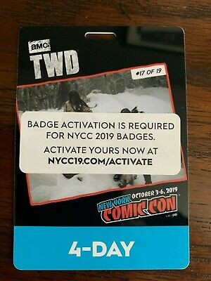 Nycc 2019 - New York Comic Con 2019 4 Day Badge/Pass In Hand Ready To Ship