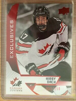 2019 ud team canada juniors exclusives 231/250 Kirby Dach