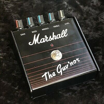 Made in England The Guv'nor Marshall Guitar Effect Pedal Used F/S from JAPAN