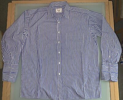 The Savile Row Company Men's Shirt, Blue/White, XL (42), 16.5 - Great Condition