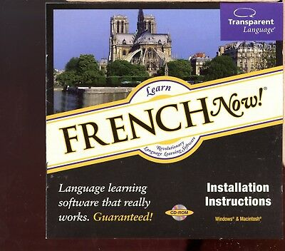 Transparent Language - Learn French Now! / PC Cd-rom