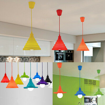 Morden E27 Ceiling Pendant Lamp Light Hanging Silicone Holder Home Cafe Decor