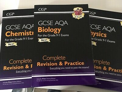 Cgp Gcse Aqa 3X Science Revision Guides Chemistry Biology Physics