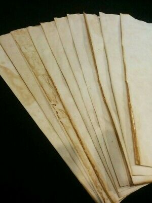 Handmade Aged Paper - A3 size - 5 sheets Tea Dyed Stained Paper for Journals