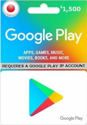 Google Play Gift Card ¥1500 Japanese Yen (Yen Accounts only!)