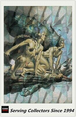 1996 Comic Images Fantasy Art Trading Card Boris With Julie Megachrome Card M1