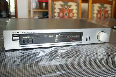 TEAC T-50 AM/FM Stereo Tuner Vintage HiFi Component LED Dial Made in Japan