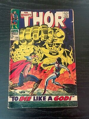 Vintage Thor Marvel Comic 139  Stored and will be Shipped on Backer Board