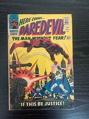 Vintage Marvel Comic Daredevil # 14 Silver Age Shipped with Backer Board