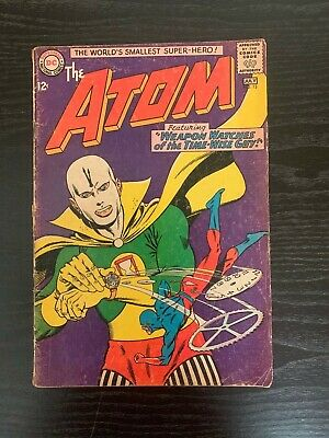 Vintage DC Comic The Atom # 13 Silver Age Shipped on backer Board