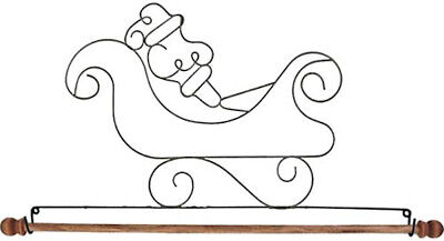 "NEW 12"" Ackfeld Mini Santa Sled Wire Quilt Holder (cost + Postage SALE)"