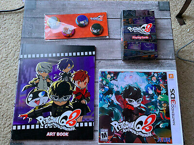 Persona Q2 New Cinema Labyrinth (Nintendo 3DS) w/ Collectible Pins, cards, &book