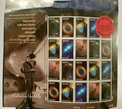 USPS - Pane of 20 ($.33) Edwin Hubble Postage Stamps