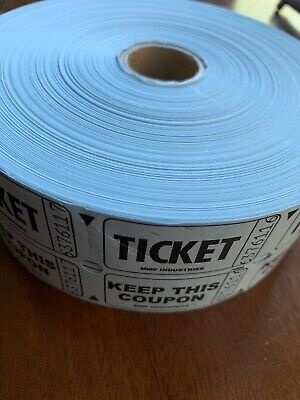 Roll Of Double Stub RAFFLE Tickets Event Drink Food Carnival Admission Split Pot