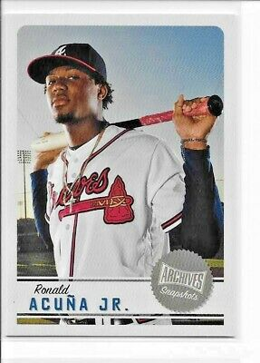 2019 Topps Archives Snapshots RONALD ACUNA JR. Base Card Braves AS-RA