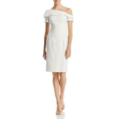Black Halo Womens Stiles White One Shoulder Cocktail Sheath Dress 6 BHFO 9116