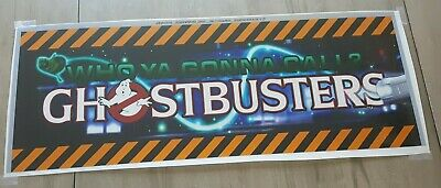 GHOSTBUSTERS ~ Translite Arcade Game Marquee Backlit Graphics Transparent Sign