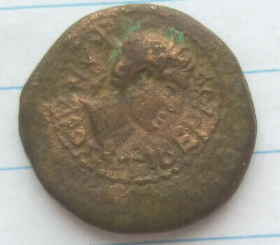Ancient coin EMPEROR Tiberius and king Aspurgus 20-30s AD authentic