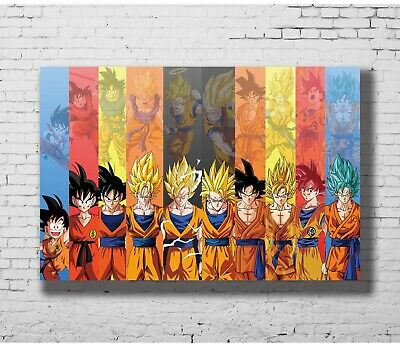 Z-17 Hot Dragon All To Super Son Goku Japanese Classical Anime 8x12inch Poster