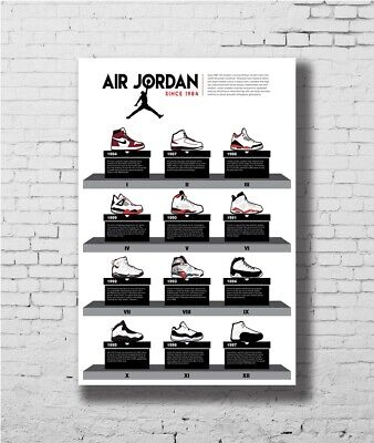 Z-666 Hot Michael Jordan Sport Shoes Silk Decoration 8x12inch Poster Print