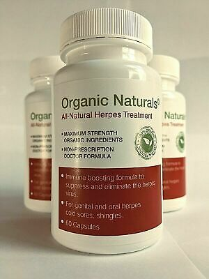 All-Natural Herpes Cure Treatment Capsules - by Organic Naturals - 60 Capsules