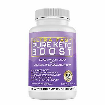 Ultra Fast Keto Boost Advanced Weight Loss BHB 800MG Diet Pills 30 Day Supply