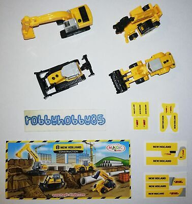 Serie Completa New Holland (Nv096 - Nv099) + 4 Bpz Kinder Italia 2008/2009