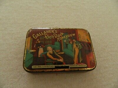 RARE  OLD   GALLAHER'S  RICH DARK  HONEY  DEW TOBACCO TIN -2 oz  VG/EXC