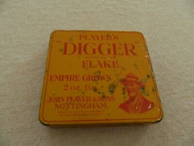 OLD  PLAYER'S  DIGGER  FLAKE  EMPIRE  TOBACCO TIN -2 oz