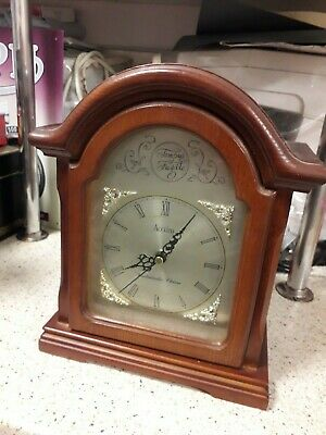 Vintage Acctim Tempus Fugite Wooden Mantel Clock With Westminster Chimes