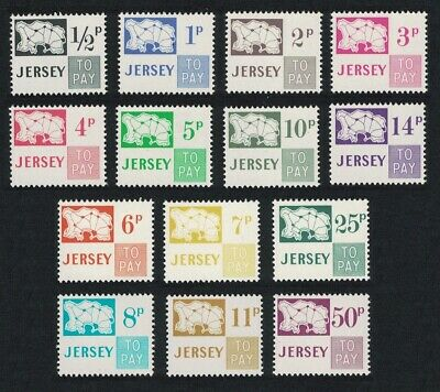 Jersey Postage Due Stamps 14v Decimal Currency MNH SG#D7-D20