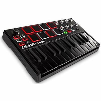 AKAI Professional USB MIDI Keyboard Controller MPK Mini MK2 Black w/Tracking#
