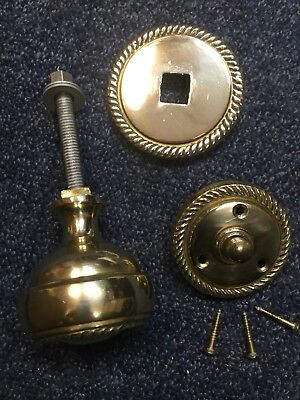 Brass Door Closer And Door Bell .