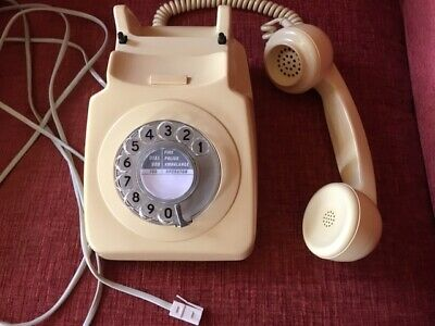 GPO 746 8746 G - Vintage Desk Cream Telephone with Working Rotary Dial